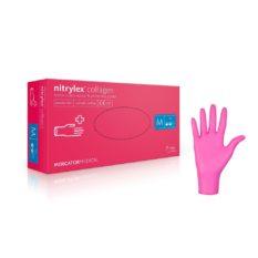 Rękawice nitrylowe nitrylex® collagen - bezpudrowe - 0