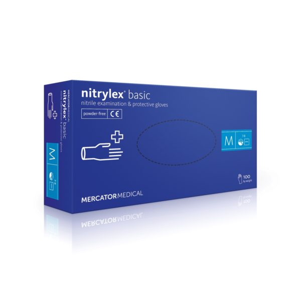 Rękawice nitrylowe nitrylex basic - bezpudrowe - 1