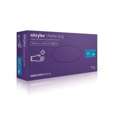 Rękawice nitrylowe nitrylex chemo long - bezpudrowe - 1