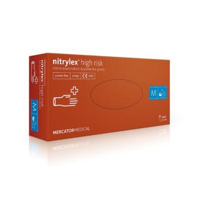 Rękawice nitrylowe nitrylex high risk - bezpudrowe - 1