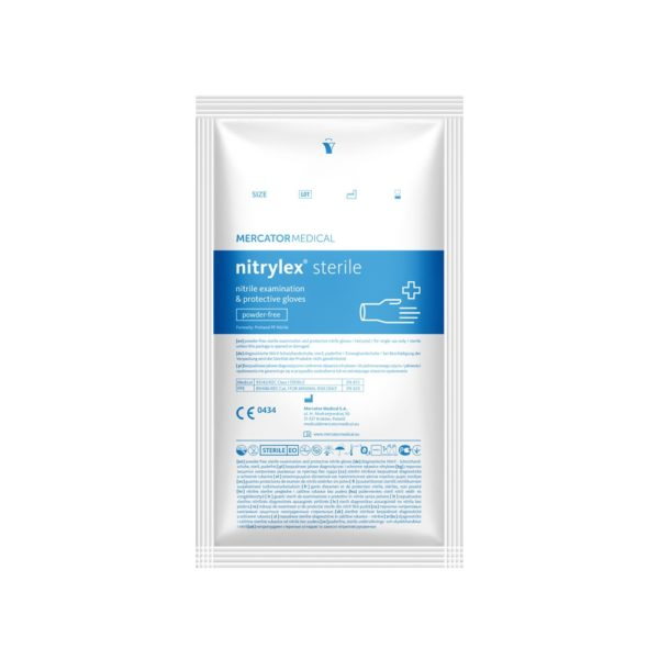 Rękawice nitrylowe nitrylex sterile - bezpudrowe - 1