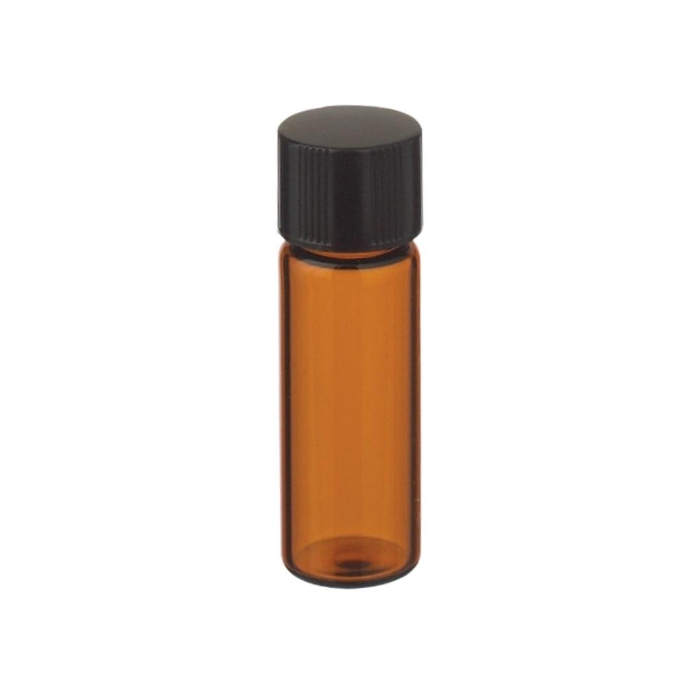 Fiolki Wheaton z brązowego szkła, z zakrętką i gumową wkładką – 4 ml