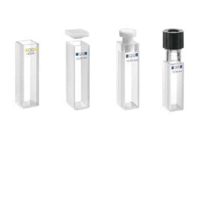 Kuwety spektrofotometryczne szklane i kwarcowe