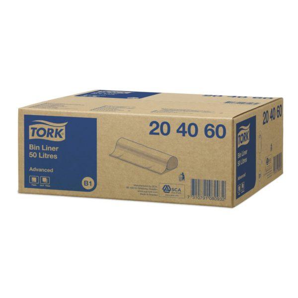 Worki z PE na odpady - przeźroczyste - poj. 50 l - 204060