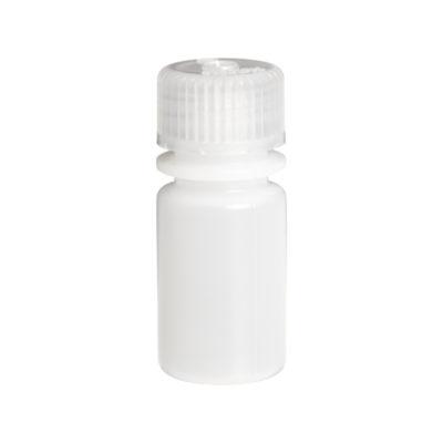 Butelki laboratoryjne z HDPE z zakrętką z PP - z wąską szyją - 15 ml - 12 szt.
