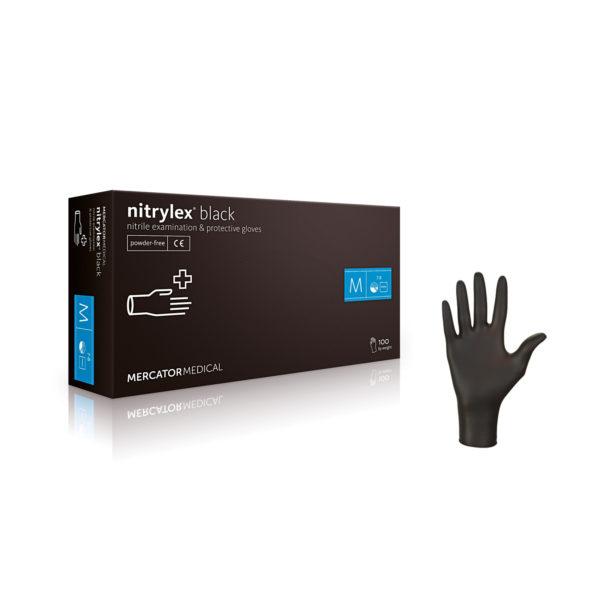 Rękawice nitrylowe nitrylex® black - bezpudrowe