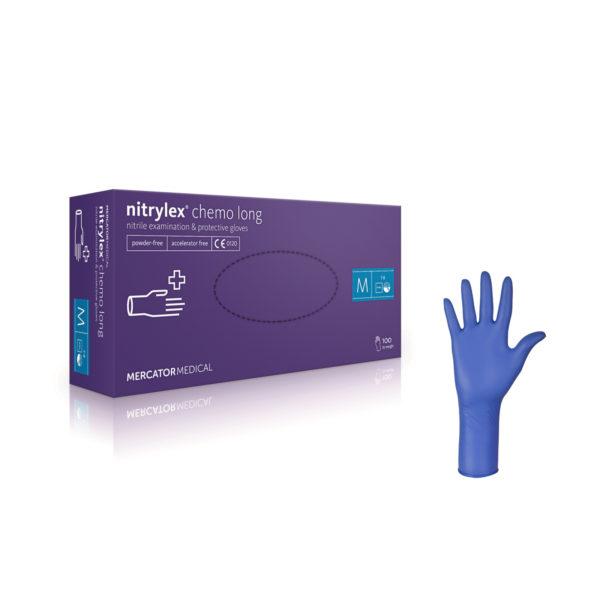 Rękawice nitrylowe nitrylex® beFree long - bezpudrowe