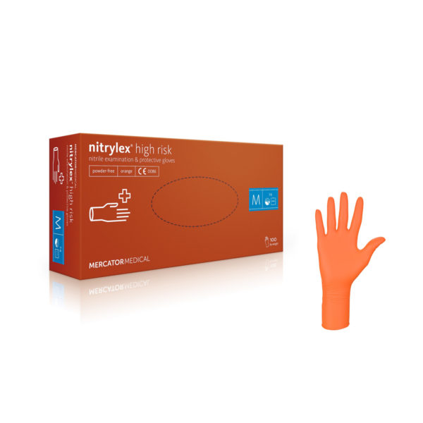 Rękawice nitrylowe nitrylex® high risk - bezpudrowe