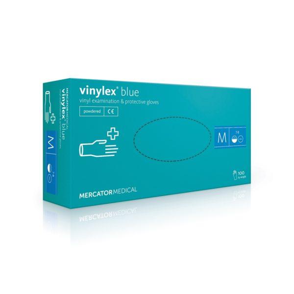 Rękawice winylowe vinylex® powder-free blue - bezpudrowe - 1