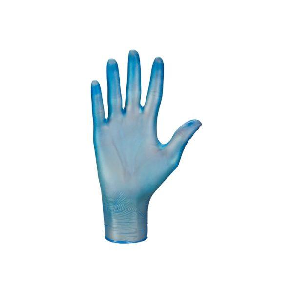 Rękawice winylowe vinylex® powder-free blue - bezpudrowe - 2