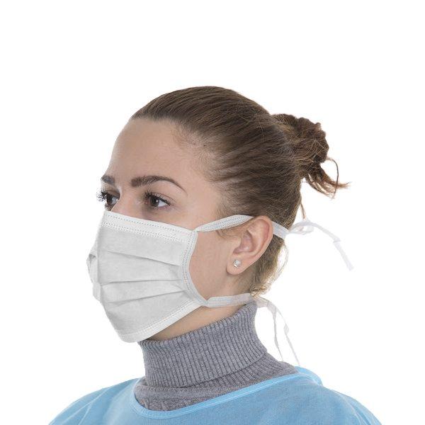 Jednorazowe maski ochronne - 3-warstwowe - wiązane na troki - Omnident - 1