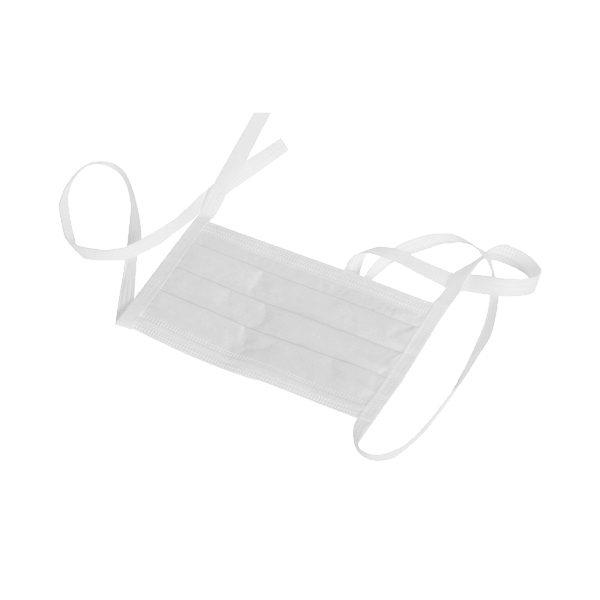 Jednorazowe maski ochronne - 3-warstwowe - wiązane na troki - Omnident - 2
