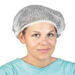 Czepki ochronne z włókniny - jednorazowe - l-7324 - czepki-jednorazowe - biale - 100-szt