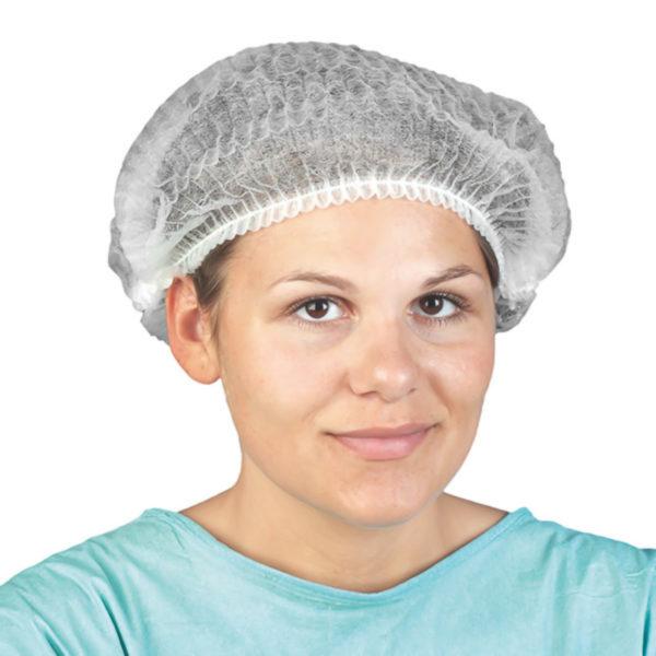 Czepki ochronne z włókniny - jednorazowe