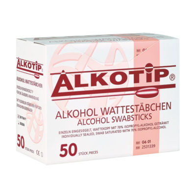 Pałeczki czyszczące Alkotip® z bawełnianą główką - sterylne