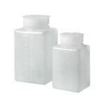 Kwadratowe butelki z HDPE - z szeroką szyją - b-4711 - kwadratowa-butelka-z-nakretkami - hdpe - 25-ml - 5-ml - 18-mm - 32-x-34-x-52-mm