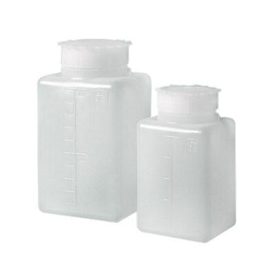 Kwadratowe butelki z HDPE - z szeroką szyją