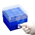 Pudełka z PP do zamrażania - a-730145 - pudelka-z-pp-do-zamrazania - 4-x-4 - 50-ml - niebieski - 2-szt