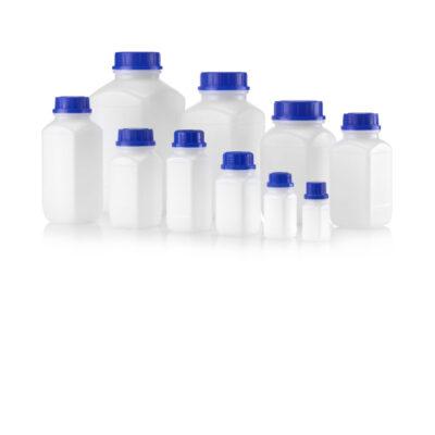 Butelki plastikowe z szeroką szyją