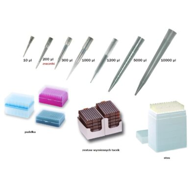 Końcówki do pipet HTL w sterylnych pudełkach