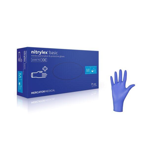 Rękawice nitrylowe nitrylex basic - bezpudrowe - 0
