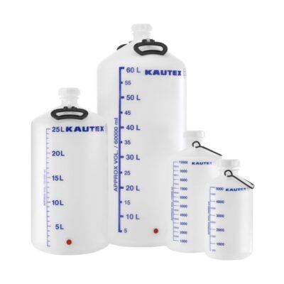 Butle z HDPE - z otworem na kran - bez kranu - o poj. 5 l - 60 l