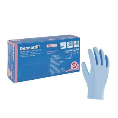 Rękawice nitrylowe Dermatril® 740 - bezpudrowe
